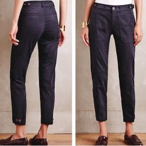 Anthropologie Pilcro Hyphen Fit Black Chino Pants